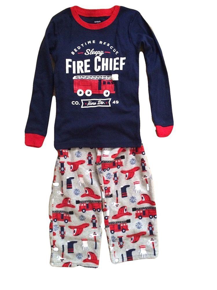 f5289b8600f5 Carter s Toddler Boy s 2 Pc Fire Chief Cotton   Fleece Pajama Set ...