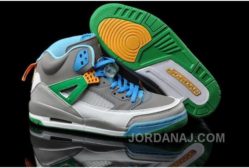 New Nike Mens Shoes Aie Jordan Spizike Grey Green