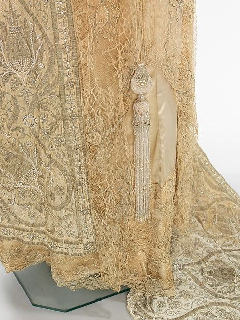 Evening dress Design House: Attributed to Callot Soeurs (French, active 1895–1937) Designer: Attributed to Madame Marie Gerber (French) Date: 1910–12 Culture: French Medium: silk, metal, pearl beads, rhinestones