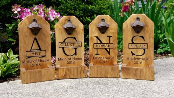 Personalized Beer Bottle Opener, Groomsmen Gift, Wedding Gift, Bottle Opener, Groomsman Gift,Best Man Gift, Bridesmaids Gift, Momcave