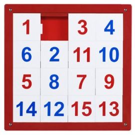 Sliding Number puzzle. Would always get on in church