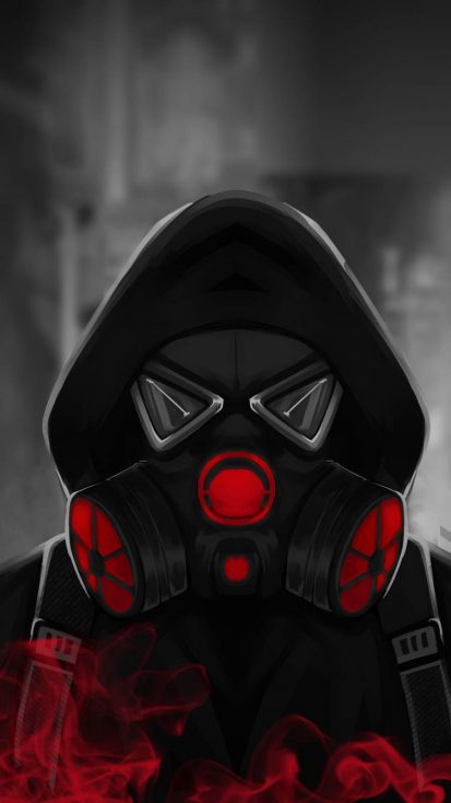 Smoke Mask Hoodie Guy - IPhone Wallpapers