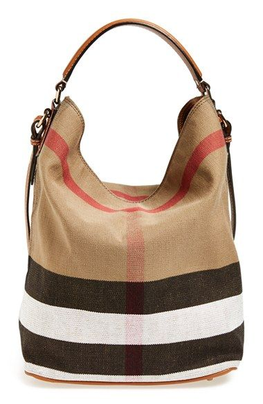 7897c80e48b147 Burberry Brit 'Medium Susanna' Check Print Bucket Bag available at  #Nordstrom