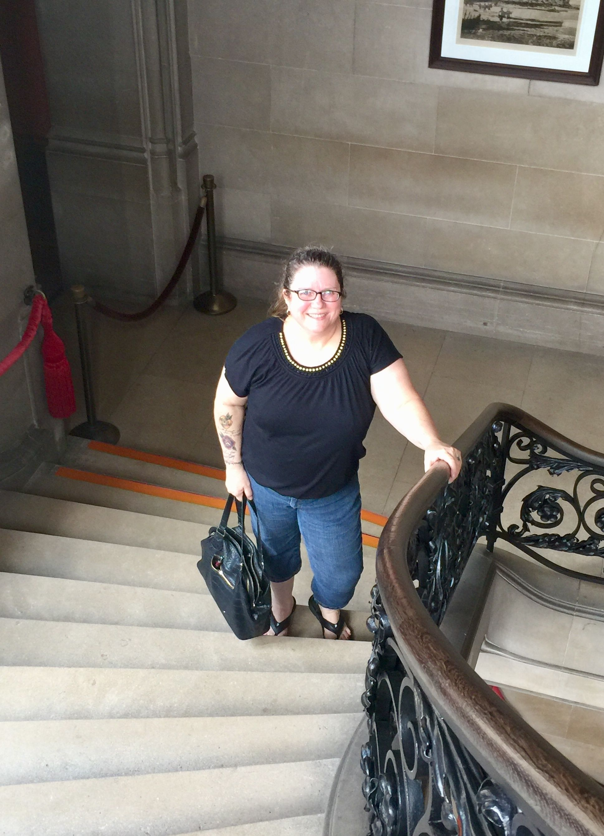 My Wife Paula On The Grand Staircase Biltmore House Asheville North Carolina Biltmore House Grand Staircase Historic Homes