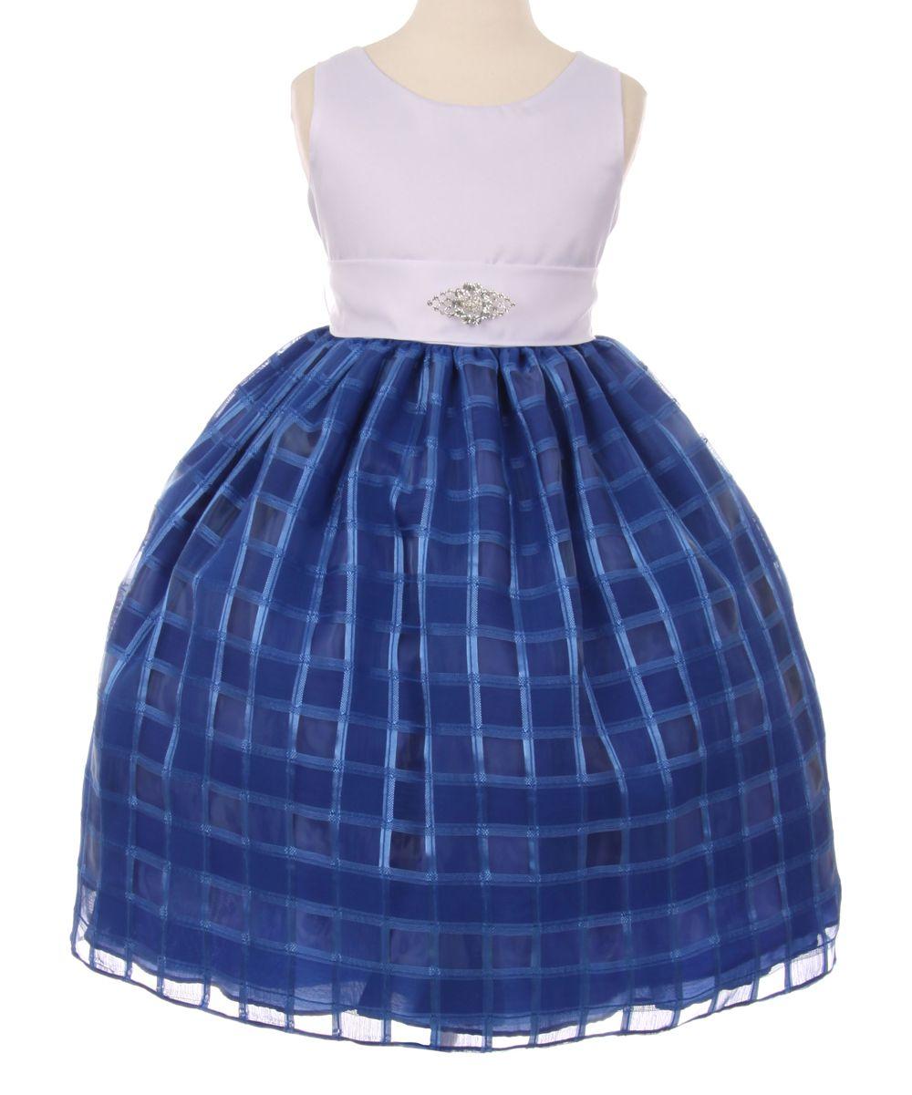 Royal blue plaid aline dress toddler u girls blue plaid and