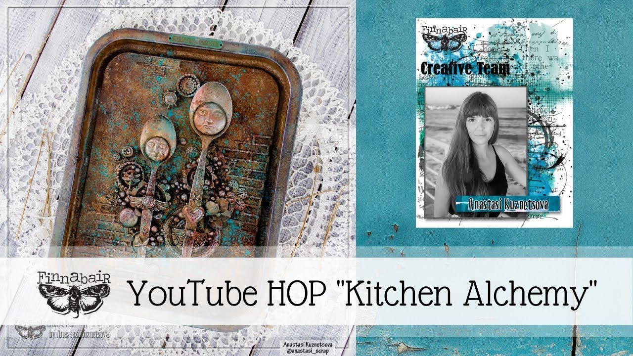 Altered Tray For Kitchen Alchemy Finnabair