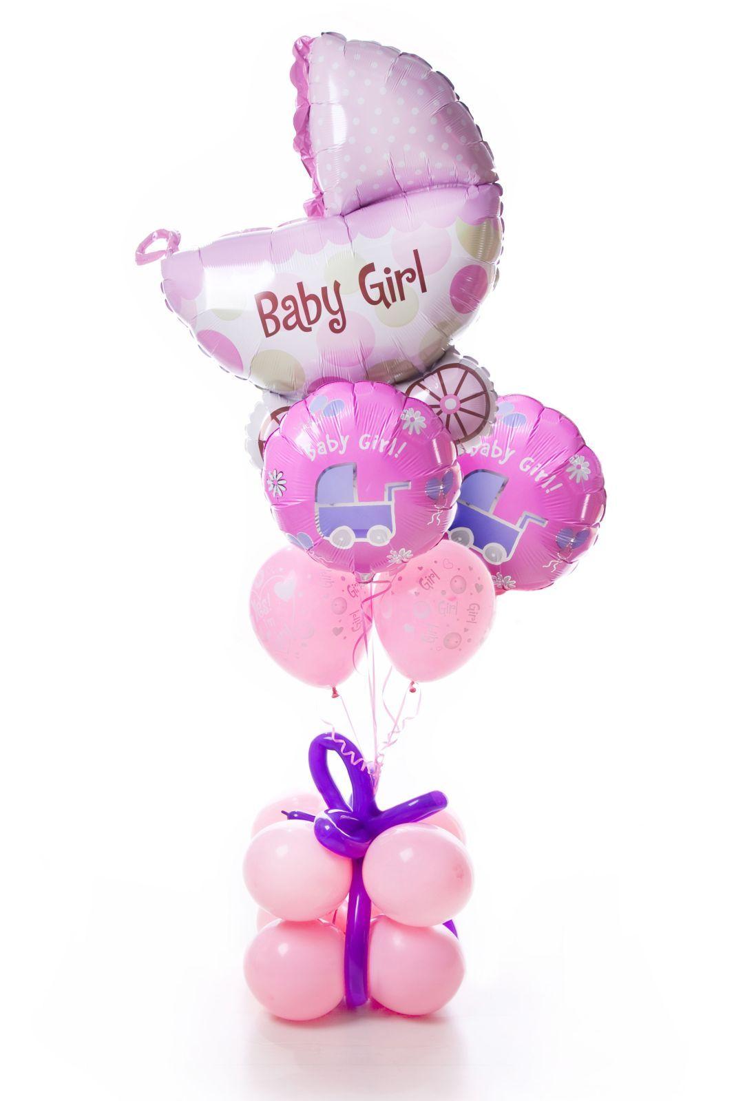 RockABaby! Balloon gift, Baby shower centerpieces