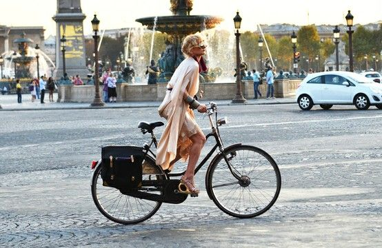 You can still look fashionable while riding a bike