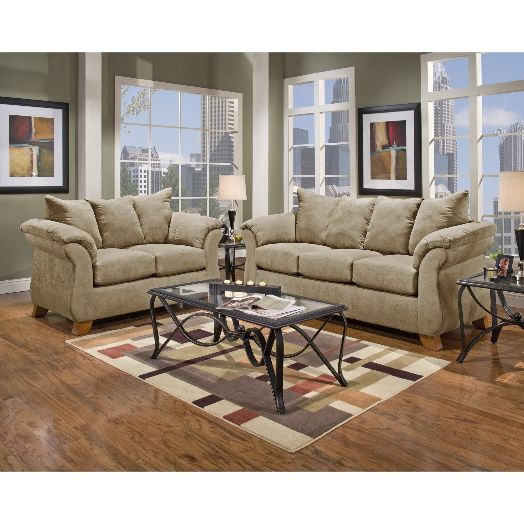 Sofa trendz cortez piece sofa and loveseat set camel cortez