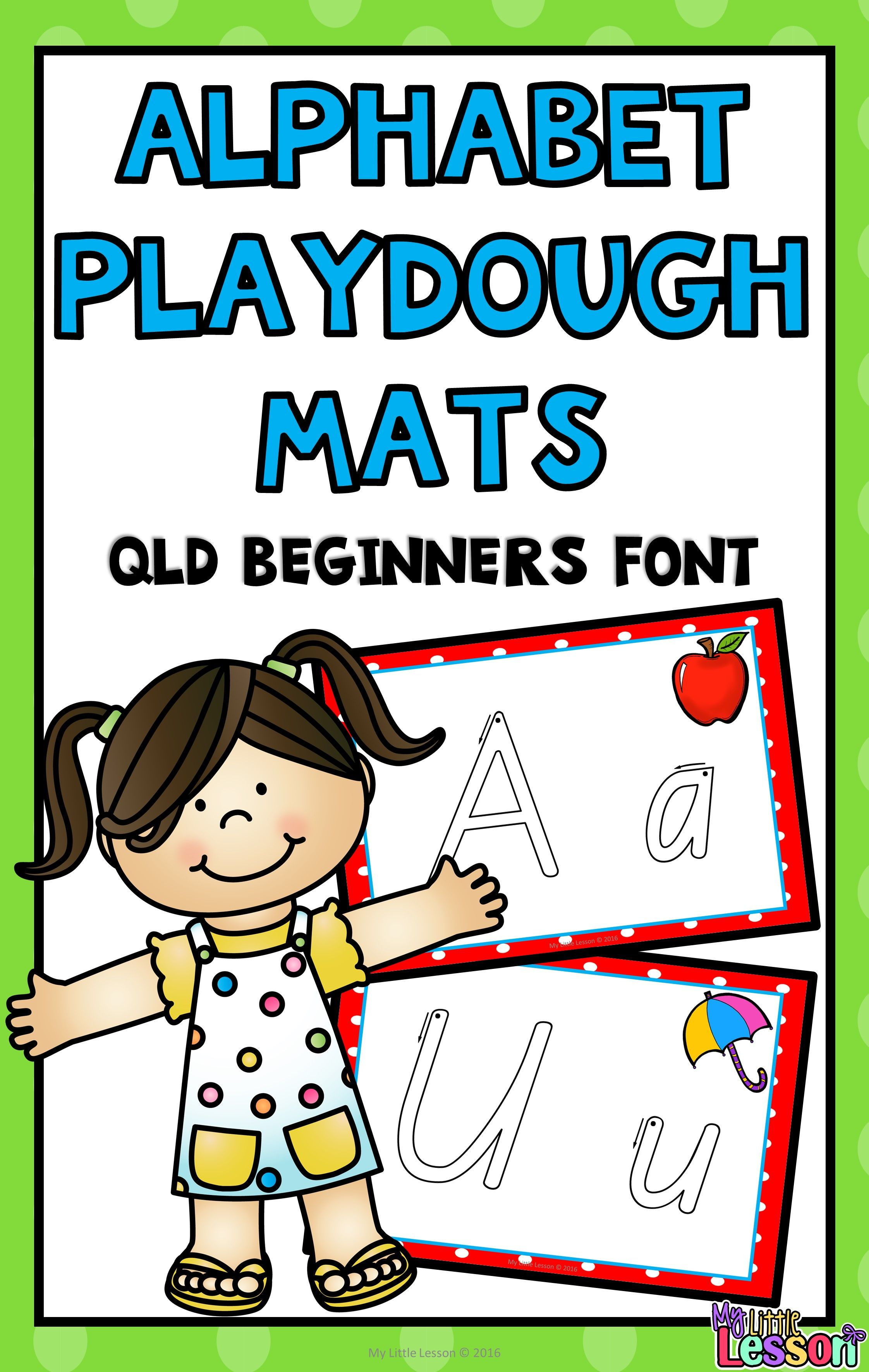 These Alphabet Playdough Mats Have Been Created Using The Queensland Beginners Font They Are A Wonderful Way To Pr Playdough Mats Letter Recognition Playdough [ 3543 x 2244 Pixel ]