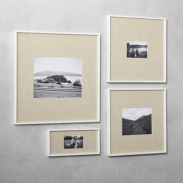 Shop Gallery White 11x14 Picture Frame With Linen Mat Exhibit Your Favorite Photos Gallery Style Unique Picture Frames White Picture Frames Picture Frames