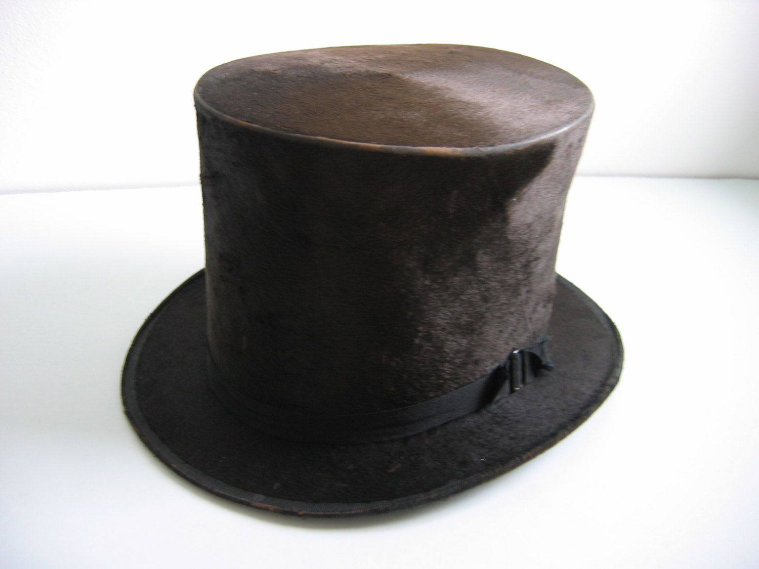 Antique Beaver Silk Top Hat 1850 S To 1879 Victorian Vintage Sabey Syracuse Ny Top Hat Silk Top Hats