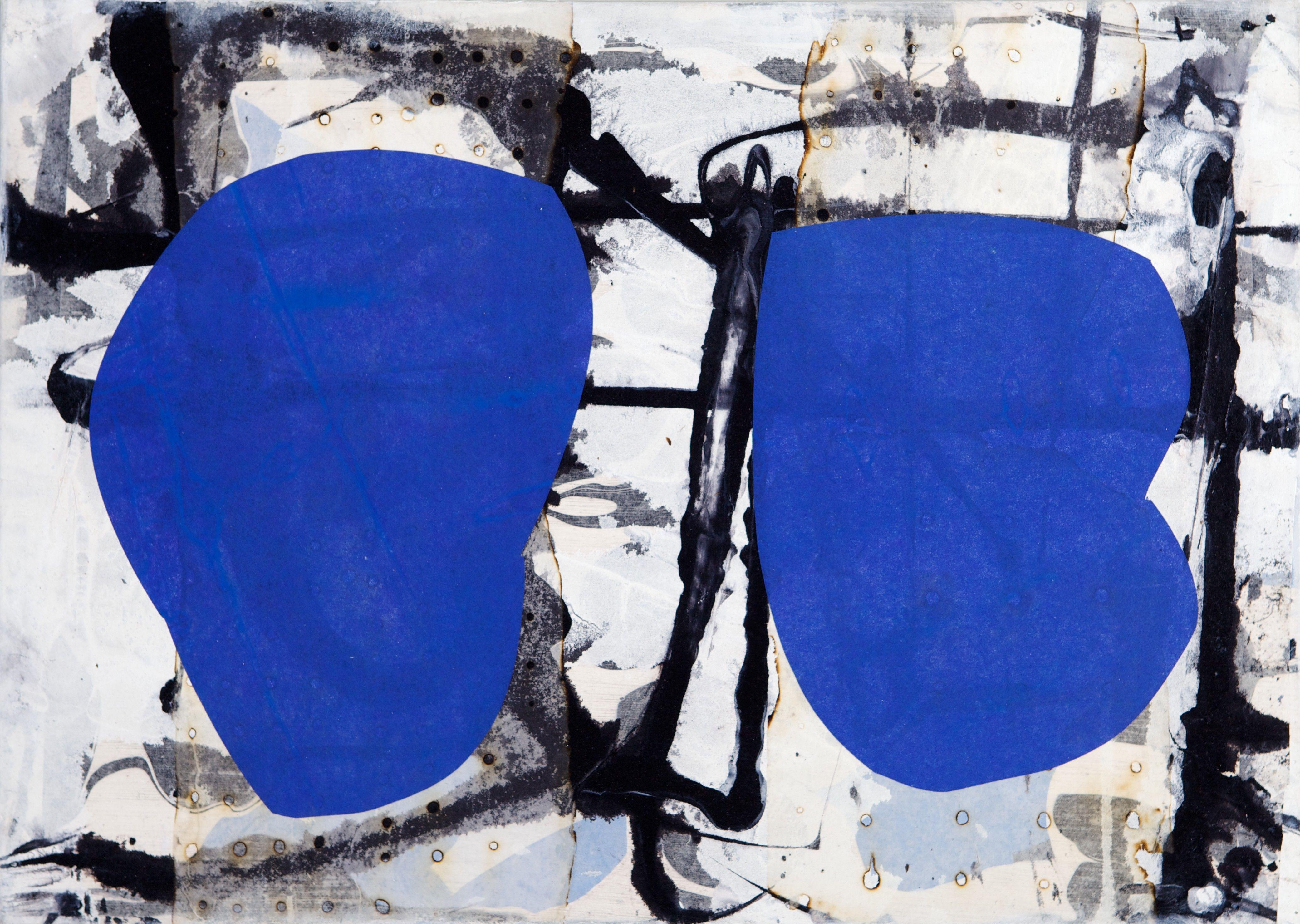 Jukka Mäkelä: Blue I, 2009, akryyli, 50x70 cm - Hagelstam K131