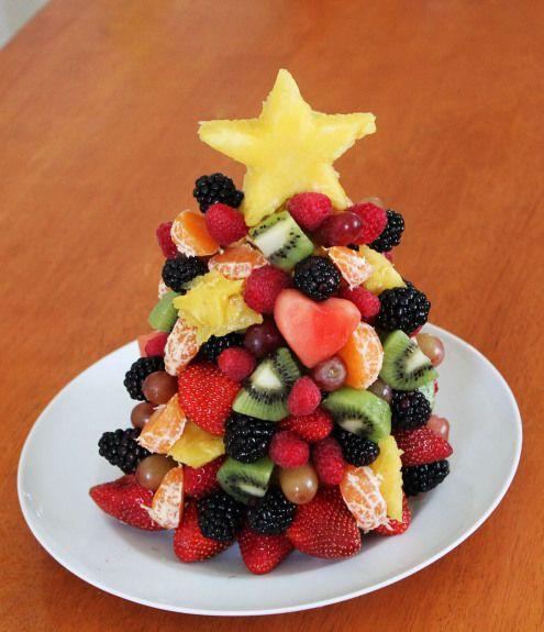 Edible Fruit Christmas Tree