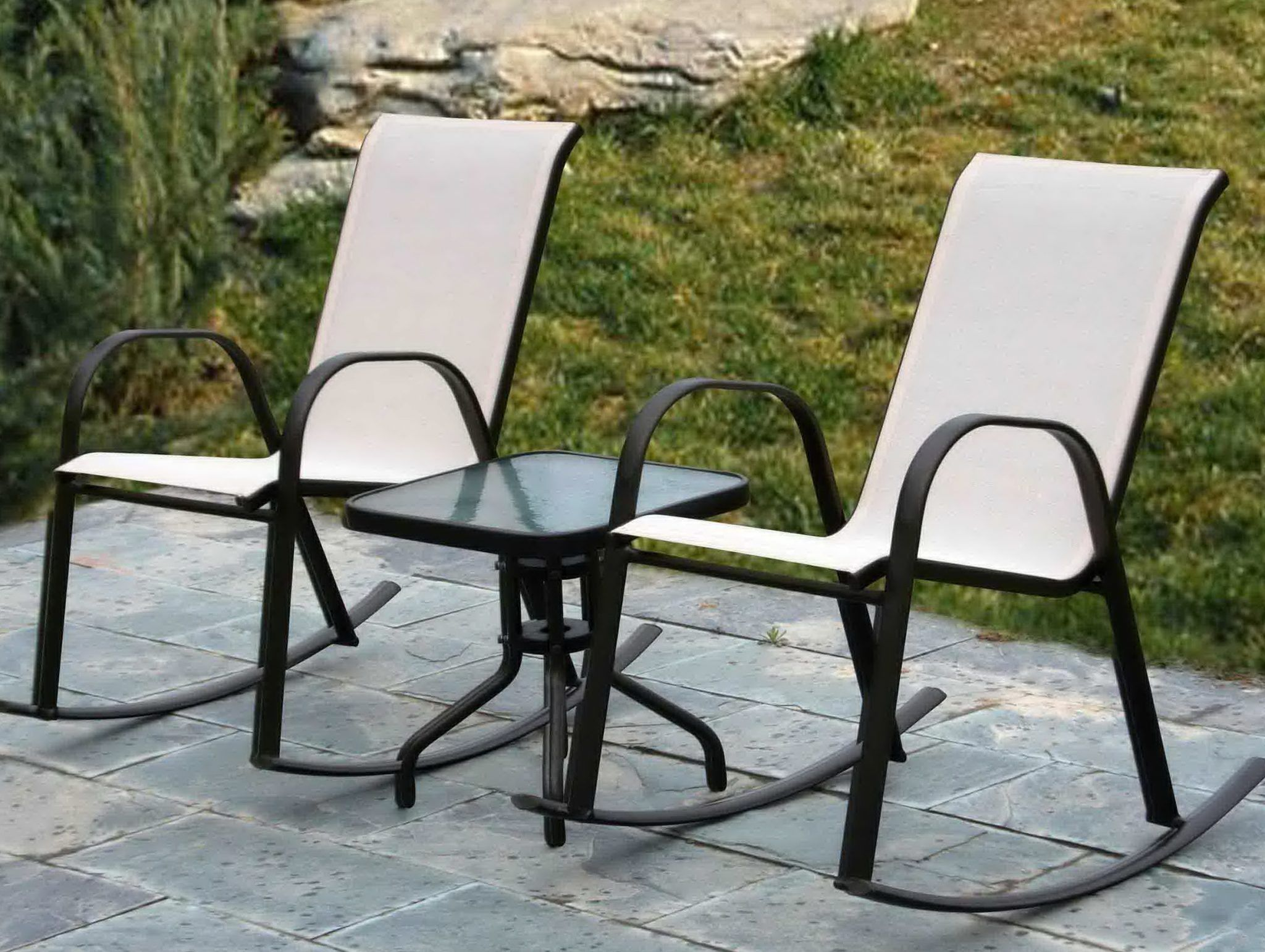 Comfortable Patio Furniture Without Cushions With Images