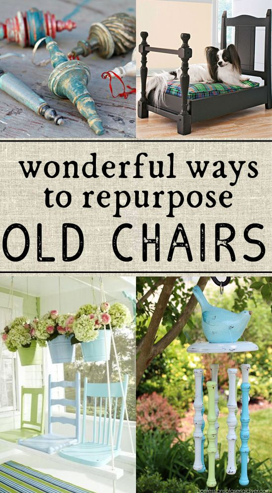 So Many Great Ideas For Ways To Reuse Old Chairs   Definitely Trying The  Last One!