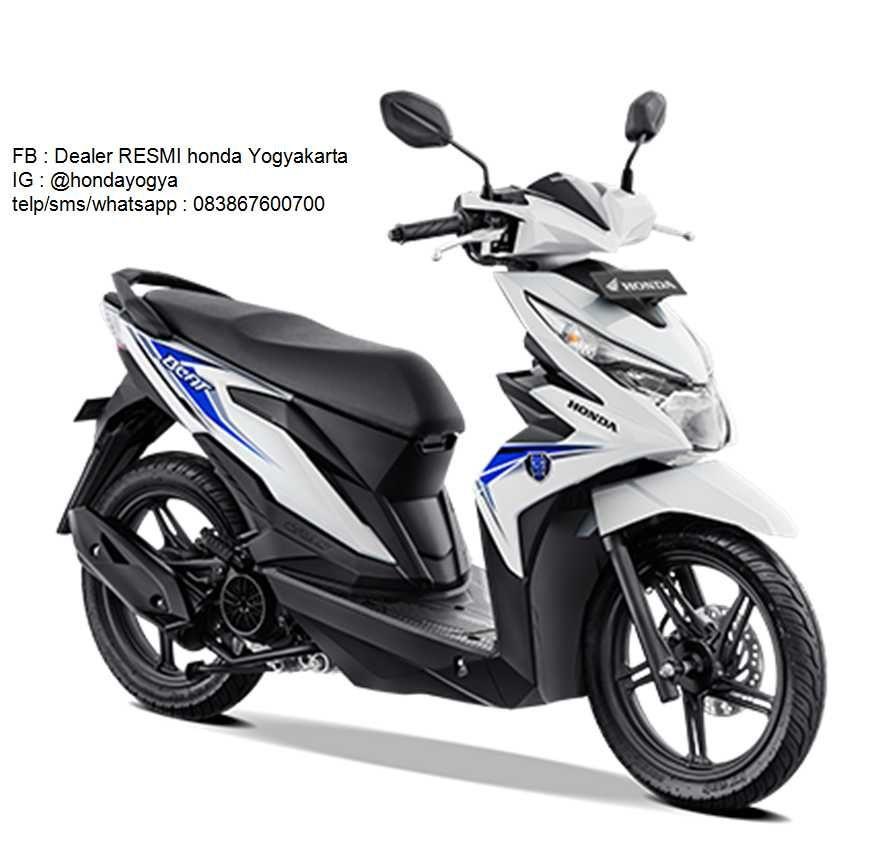 New Honda Beat Cw 2019 Putih Motor Honda Sepeda Motor Sepeda