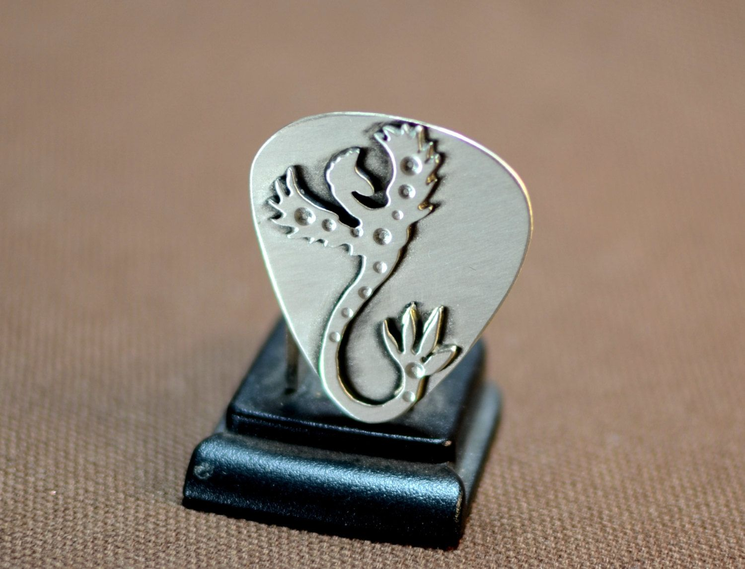 Sterling silver Phoenix Guitar Pick