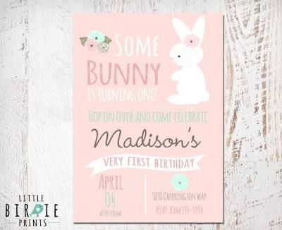 BUNNY BIRTHDAY INVITATION First ...
