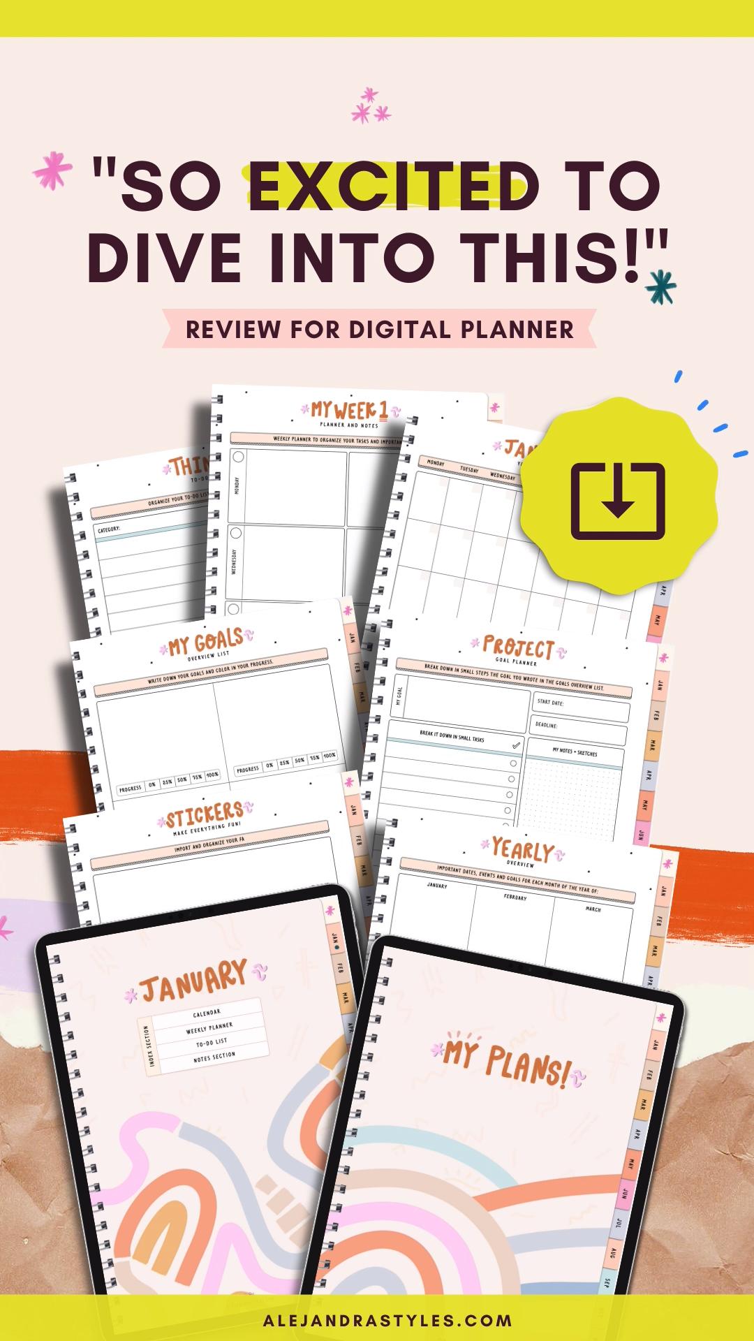 Digital Planner Ipad Planner Goodnotes Digital Planner Yearly