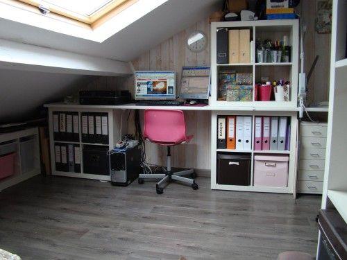 une scraproom sous les toits espace bureau pinterest. Black Bedroom Furniture Sets. Home Design Ideas