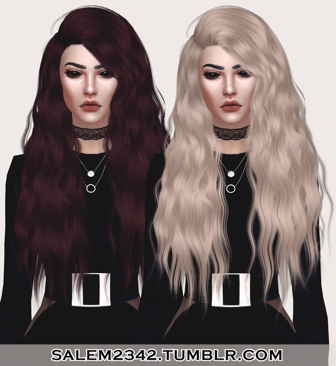 Salem2342 Stealthics Sleepwalking Hair Retextured Ts4