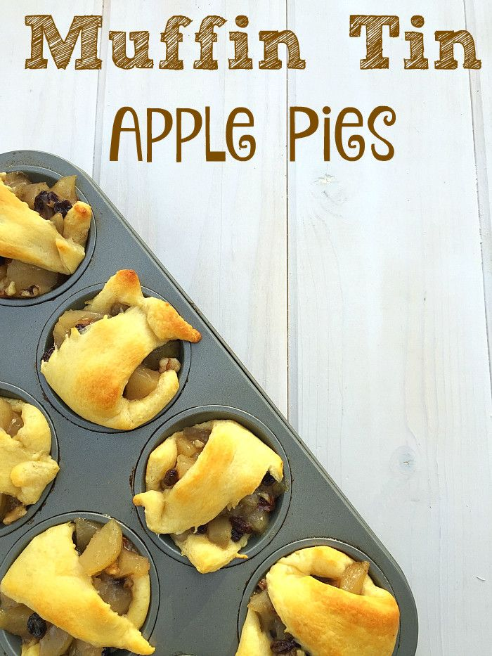 Easy Recipe For Mini Apple Pies That Only Requires 4