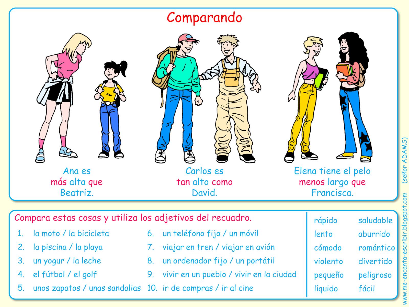 Me Encanta Escribir En Espanol Comparando Los