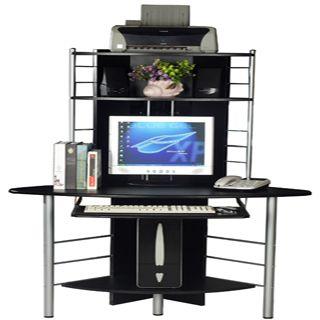 Etonnant Tall Black Corner Computer Desk