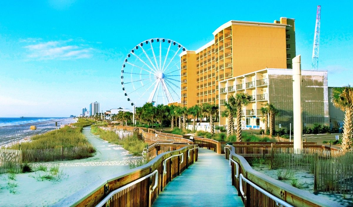Some Of The Best Myrtle Beach Hotelotels On Grand Strand Call Boardwalk Home Which Opened In S