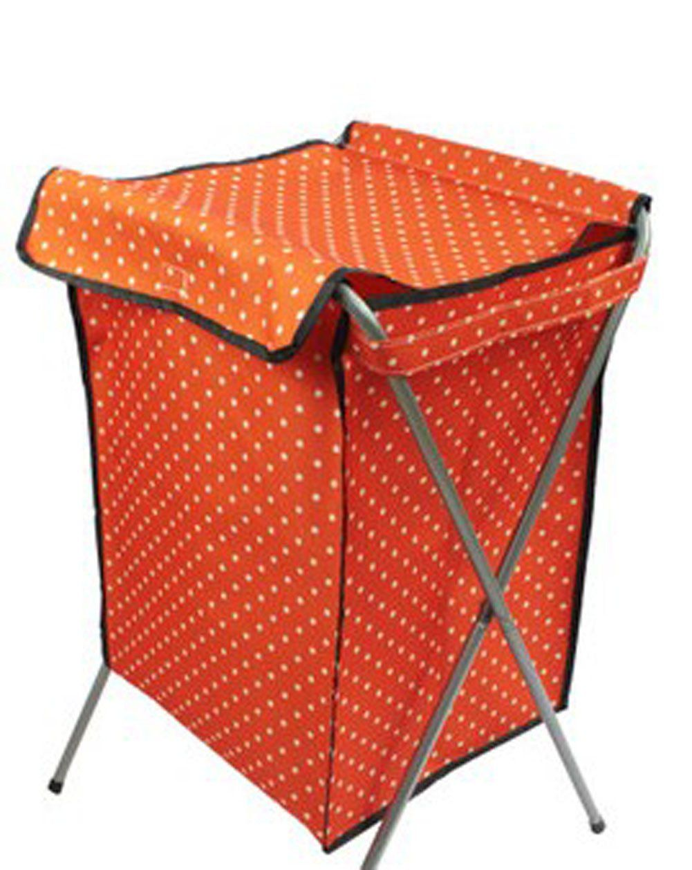 Household Essentials Foldable Laundry Basket With A Cover 66 40 35cm Orange Products Laundry Basket Laundry Laundry Storage