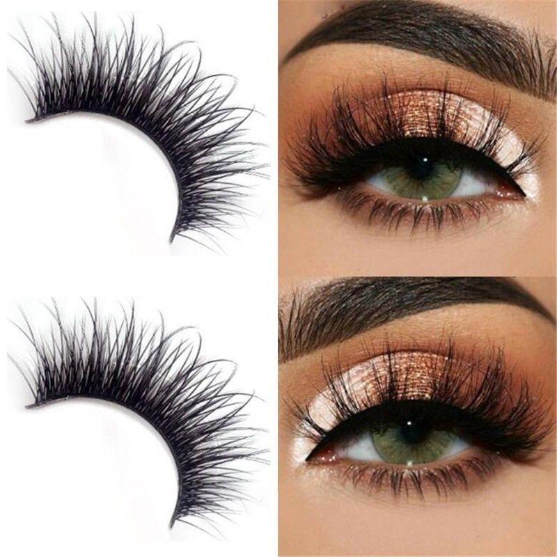 5f69cfd7610 5Pairs Women Long Thick Cross Makeup Beauty False Eyelashes Eye Lashes  Extension #ebay #Fashion
