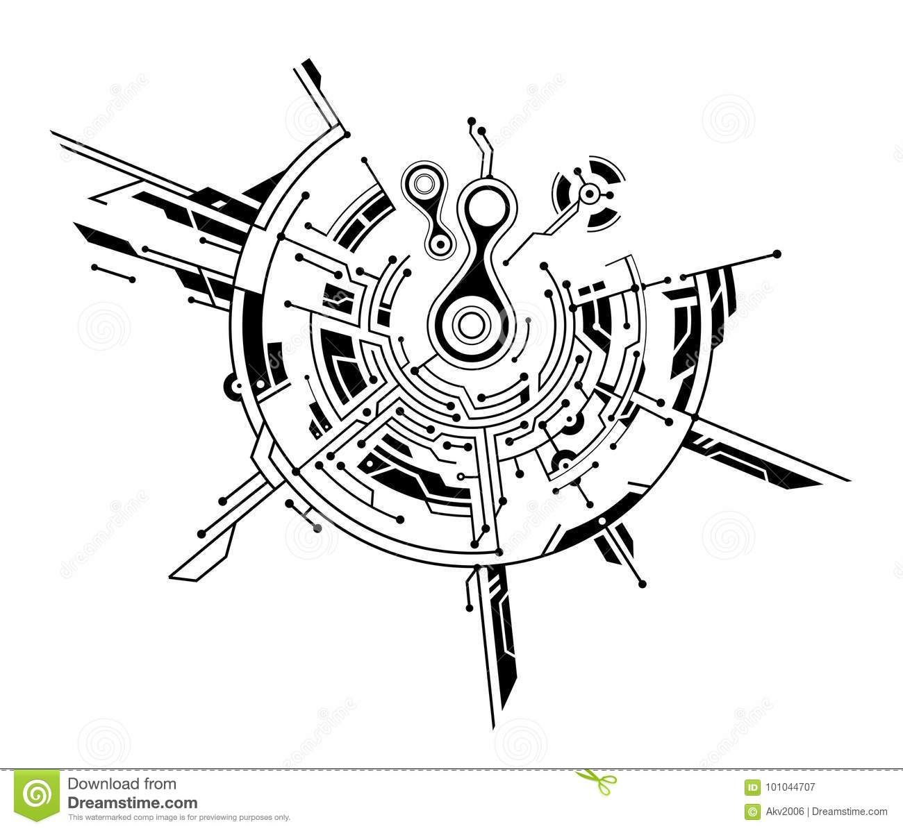 Photo About Circuit Board Graphic Concept Isolated On White Illustration Of Technology Board Digital 1010 Geometric Tattoo Cyberpunk Tattoo Circuit Tattoo