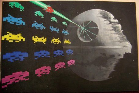Space Invaders VS Death Star by ~fenrisilver on deviantART