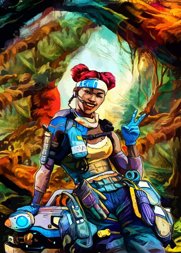 Apex Legends Colourful Character Portraits Displate Posters