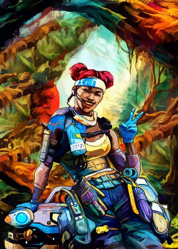 "Apex Legends Colourful Character Portraits Lifeline #Displate explore Pinterest""> #Displate artwork by artist ""Hustl… | Displate thumbnail"