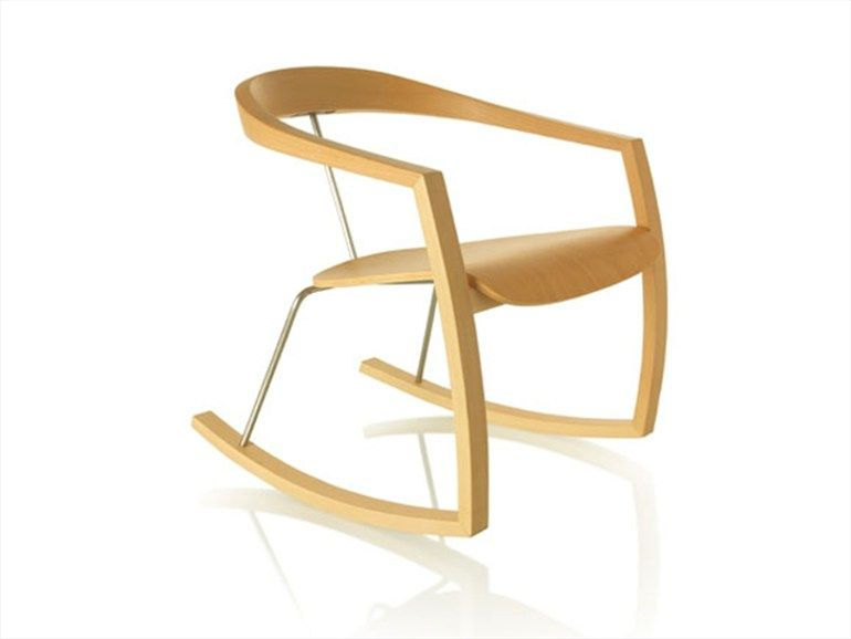 Rocking beech Chair RO-RO by Zilio Aldo & C. | Design Tomoko Azumi