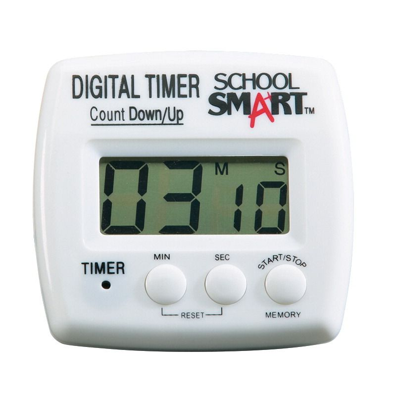 School Smart Count Up Count Down Timer Digital 1 Aaa Battery 2 3 4 In W X 2 3 4 In H X 1 In D Timer Classroom Direct Digital Timer