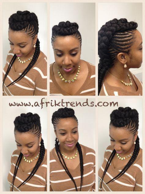 Mohawk Cardi B Braids African Braids Hairstyles Braid
