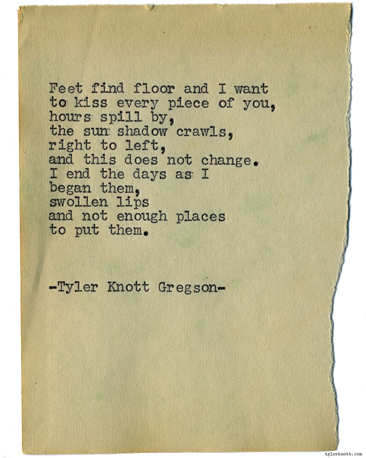 Typewriter Series 1258 By Tyler Knott Gregson All The Words Are Yours Is