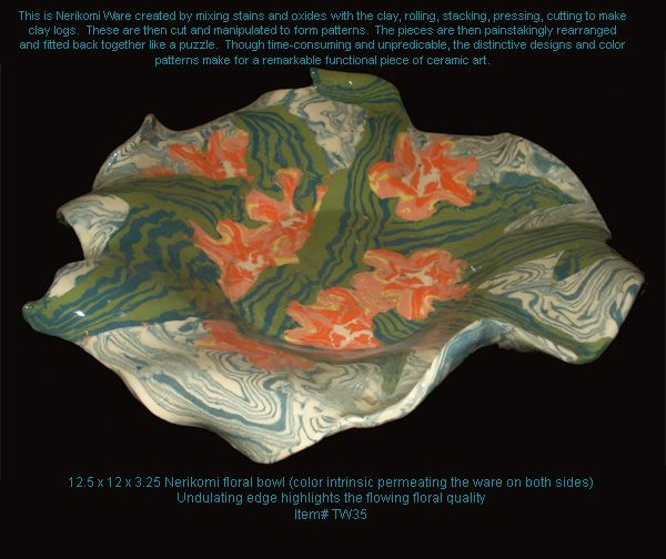 nerikomi bowl from fired up #nerikomi #ceramic #pottery #bowl $86