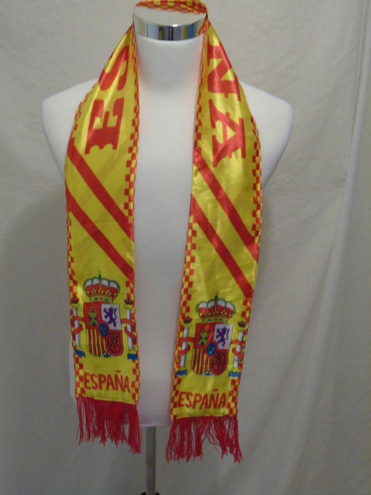 "ESPANA soccer scarf Vintage football Great Shape futbol Spain 62"" ~ 157.5 cm  #Espana"