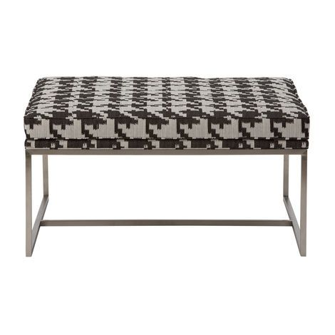 Modern love – the impeccably tailored Matteo ottoman in every size has a sleek, brushed stainless steel base. Choose a smooth top or a biscuit-tufted top with or without buttons, in fabric or leather.