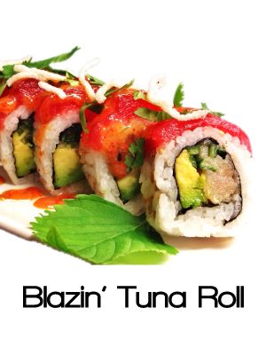 Windy S Sukiyaki Anese Sushi Restaurant Blazin Tuna Roll With Miso Sesame Sauce Hamachi And More Gluten Free
