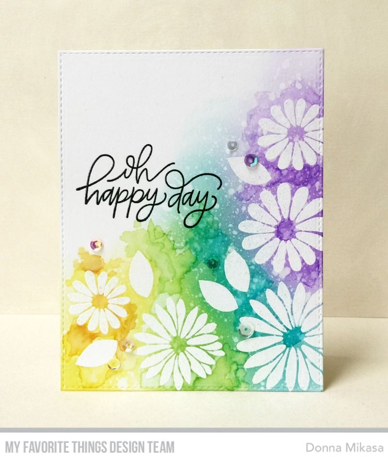 handmade greeting card from three umbrellas ... bright and beautiful ...