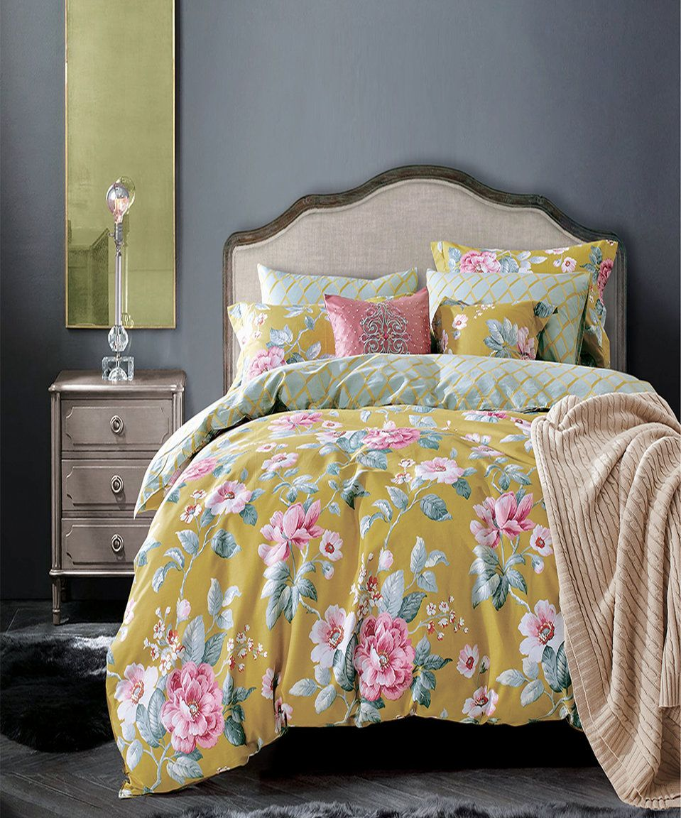 take a look at this gold jovanna duvet cover set today!   bedding
