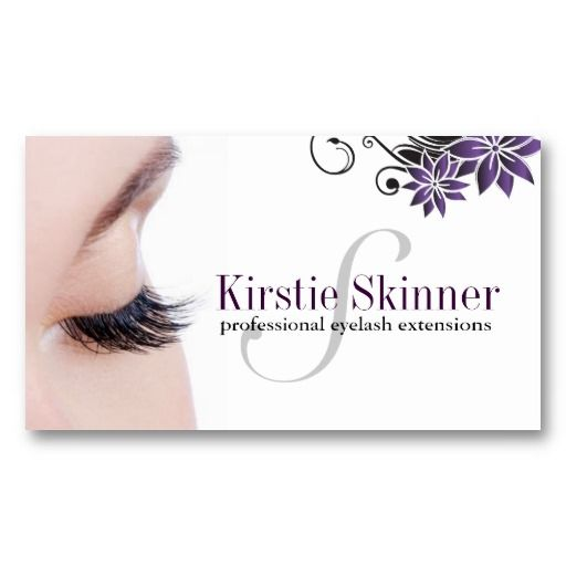 eyelash extensions business cards - Eyelash Extension Business Cards