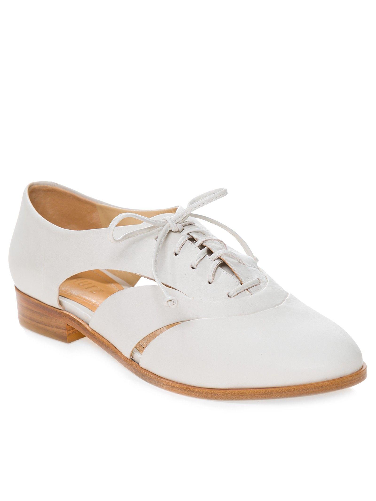 dcd4b07175 Sapato Feminino Fechado Atanado Soft - Schutz - Off White - Shop2gether