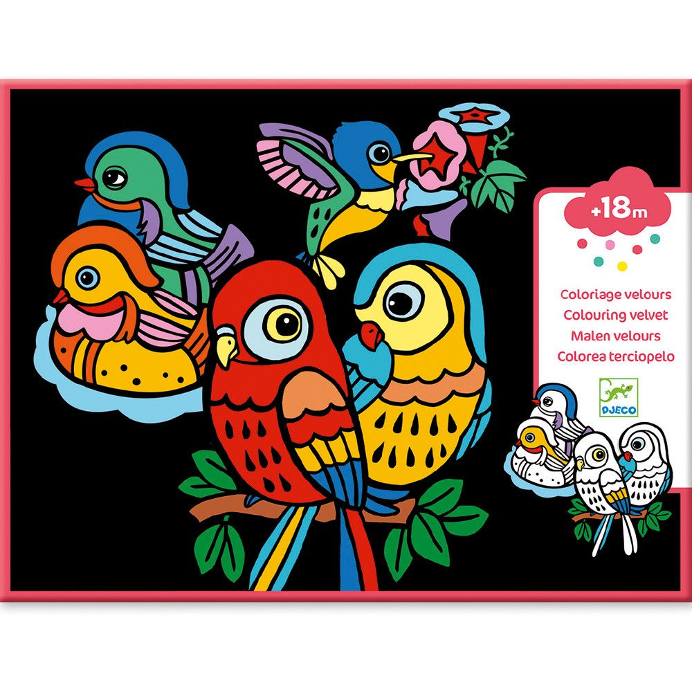 Velvet Colouring Baby Birds Little Ones Can Learn To Colour With This Clever Djeco Baby Birds Velvet Colouring Set That Ma Djeco Artistic Makeover Baby Bird