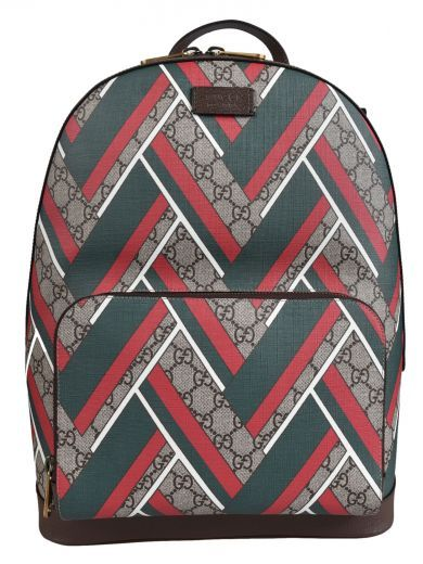 d192166253d5 GUCCI Gucci Gg Supreme Chevron Backpack. #gucci #bags #leather #lining  #canvas #backpacks #